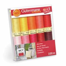 Gutermann Thread Set: Sew-All: 10 x 100m: Assorted Brights