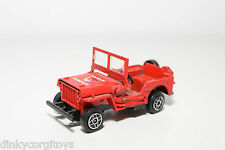 SOLIDO 1322 JEEP WILLYS SAPEUR POMPIERS FIRE CAR NEAR MINT CONDITION