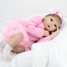 "Npk 22"" Lifelike Soft Silicone Reborn Bambole Smile Baby Girl Gift stock in UK"
