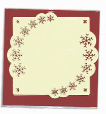 Luxury Card Layer Punch Cards, set of 3, Square Cream, Snowflake,Border BPM5719