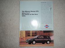 Nissan Sunny GTI -  Advertisement  - 1993