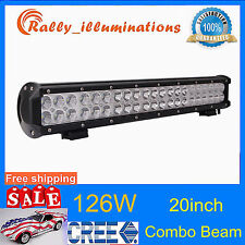 20INCH 126W CREE LED WORK LIGHT BAR 10500LM SPOT FLOOD COMBO 4WD DRIVING OFFROAD