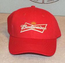 Vtg BUDWEISER King Of Beers Cap Red Strapback