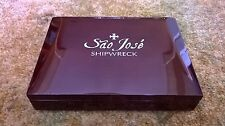 Sao Jose Shipwreck Reales Polished Mahogany Display Box (2 coin)