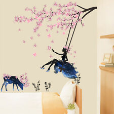 Wall Removable Stickers Vinyl Decal Art Mural Home Decor Butterfly Flower Fairy