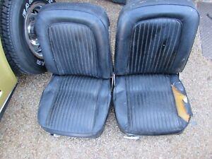 C2 1964 Corvette original seats w tracks & side chrome
