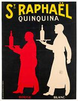 Affiche Originale - Saint Raphaël - Quinquina - Apéritif - Vin - Serveurs - 1930