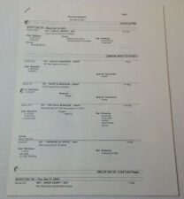 ONE TREE HILL set used SHOOTING SCHEDULE ~ Season 1, Episode 12