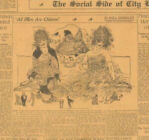 Nell Brinkley Original Papers 1916-1917 Black & White Artwork 3 Stunning B1