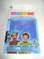 NEW SNAZAROO 6 BLUE FACE & BODY PAINT STENCILS SPACE SHIP CAR TIGER BOYS