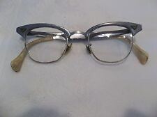 Vintage  Horn Rim Eyeglass Frames 1/10 12 GF Nose Bridge With ALUMINIUM frame