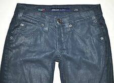 Miss Sixty Women's Size 26 X 29.5 Dark Blue Coated Boot Cut Jeans Ex Love ITALY