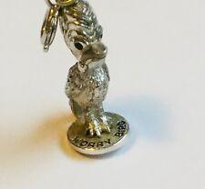 "WORRY BIRD - Sterling silver  Bracelet 1""Charm pendent  Vintage"