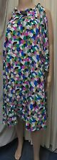 FABULOUS MONSOON HARLEQUIN SILK LINED DRESS WITH TIE NECK SIZE 14