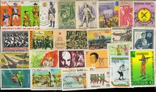 GUNS On Stamps-25 Different Large-Worldwide Mixed Thematic Mostly Used Stamps-