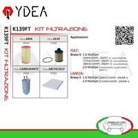 Kit Tagliando Filtri Filtrazione Fiat Bravo II Lancia Delta II - Ydea K139FT