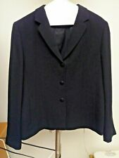 PETITE SOPHISTICATED black formal business blazer jacket size 8