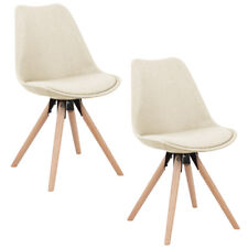 2x Leisure Dining Chair Office Kitchen Sponge Fabric Chair Back Home Restaurants