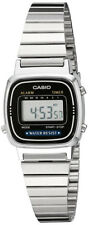 Casio Women's Digital Silver-Toned Stainless Steel Watch LA670WA-1