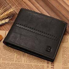 Men's Leather Wallet Handbag ID Credit Card Holder Bifold Purse Clutch Billfold
