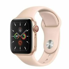 Apple Watch Series 5 A2094 44mm Gold Aluminum Case Pink Sand Sport Band NEW