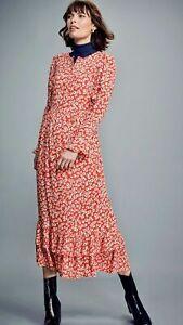 M&S X GHOST BOHO PRINTED MIDAXI DRESS. SIZE 10. NWT