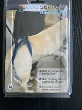 NEW Medical DOG SUPPORT HARNESS For REAR LEG SUPPORT ADJUSTABLE SIZE M BLUE