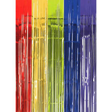 DARK RAINBOW FOIL DOOR CURTAIN ~ Birthday Party Supplies Hanging Decoration