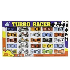 Diecast Car and Motorcycle Set Turbo Racer (25 Pieces)