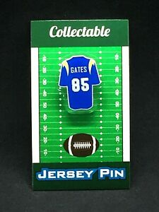 Los Angeles Chargers Antonio Gates jersey lapel pin-Classic Retro Collectable