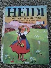 Vintage, Heidi: Child of the mountains by Johanna Spyri, Illustr. Steffie Lerch