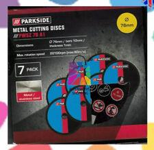 "7 Discs For parkside 12v angle grinder 3"" Ultra Thin Cutting Metal / Steel Lidl"