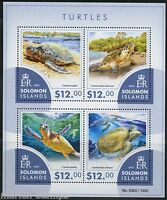 SOLOMON ISLANDS TURTLES  SHEET OF FOUR MINT NH