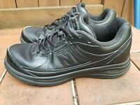 New Balance 577 MW577BK Leather Walking Shoes, Men's Size 8.5 Black