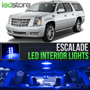2007-2014 Cadillac Escalade Blue Interior LED Lights Kit Package