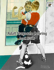 Adult Coloring Book (24 pages) Boys Life Norman Rockwell FLONZ grayscale 063