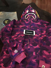 Bape Camo shark hoodie Purple US Size Large