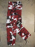 Pantalon BDU Armée US M65 Red Camo taille 38 urban camouflage camo cam treillis