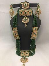 NWOT Beautiful Bridal Rani haar With High Quality Green  Crystal Bead