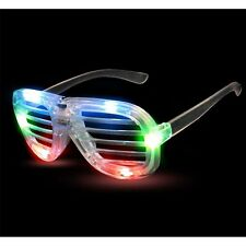 12 pcs Party Favor LED Light Up Slotted Shades Multicolor 6 LED light up Glasses