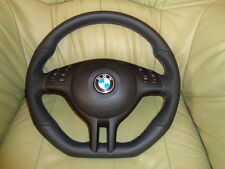 BMW E39 E46 M3 M5 X5 UNTEN ABGEFLACHT Lederlenkrad  + Airbag