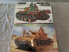Lot 725 - 2 German Tanks, Panther, DAK Panzer IV - 1/35 Scale - Tamiya, Dragon