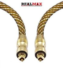 5M Gold Plated Toslink Digital Optical Audio Cable with Metal Connectors Lead UK