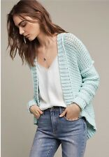 Anthropologie Classic High Low Cardigan By Moth Mint Blue NWT Large Retail $118
