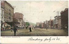 View on Penn Street in Reading PA Postcard 1906