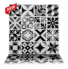 Tic Tac Tile Mosaic Peel and Stick Wall Tile in Como Black (10 Tiles)