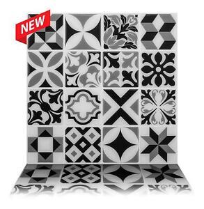 Tic Tac Tiles_3D Peel and Stick Wall Tile_Moroccan Mono(5sheets x 25cm x 25cm)