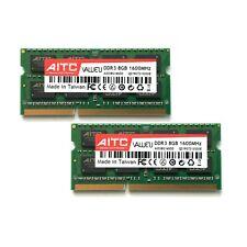 AITC 16GB DDR3 2x8GB 1600MHz CL11 204 Pin SO-DIMM RAM Notebook Arbeitsspeicher