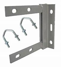 TV Aerial Mounting  Bracket 6 x 6  inch  Painted Steel  With 2 x U Bolts