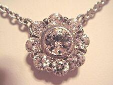 "Judith Ripka Sterling Silver Diamonique Flower 18"" plus 2"" Necklace NWT QVC"